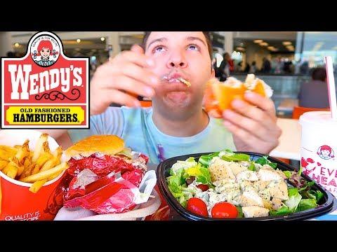 Wendy's Eating Show • MUKBANG