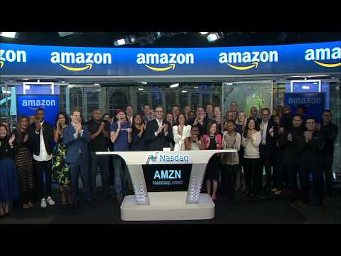 NASDAQ Opening Bell Ceremony – Amazon 20th Listing Anniversary