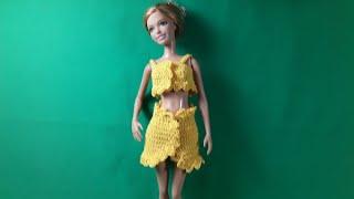 Урок вязания юбки для Барби. Мастер-класс.