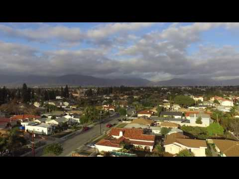 Baldwin Park California - Sunset Drone Shot