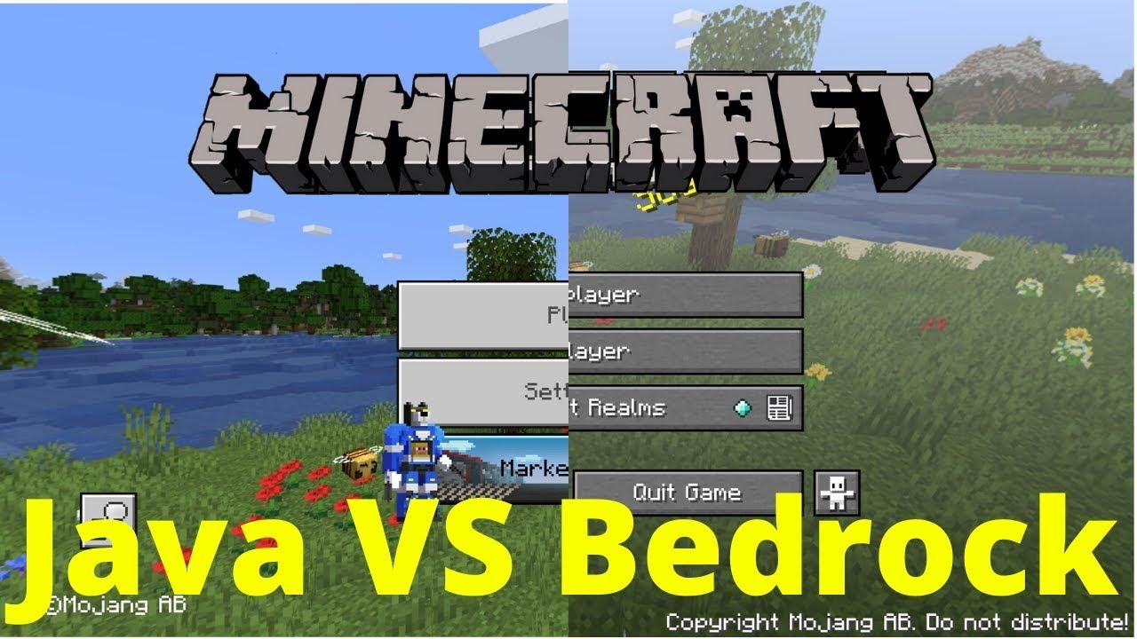 Minecraft Java Edition VS Bedrock Edition... - YouTube