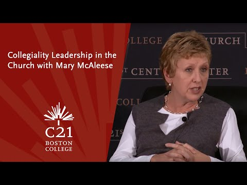Collegiality Leadership in the Church with Mary McAleese