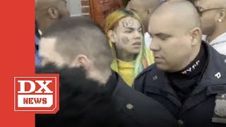Tekashi 6ix9ine Charged For Assaulting A Police Officer At NYPD Precinct