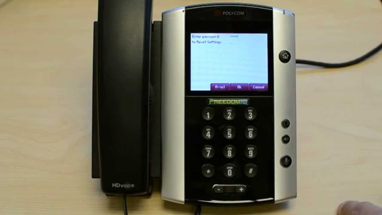 Polycom VVX Unknown Admin Password Reset to 456 (True Full Factory Reset)