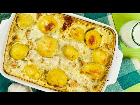 Картошка с куриным филе в молоке в духовке – Нежно, вкусно, просто!