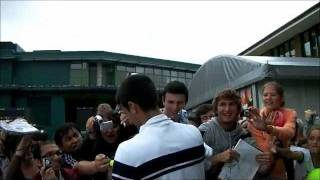 DJOKOVIC SIGNING FOR FANS JUNE 25TH