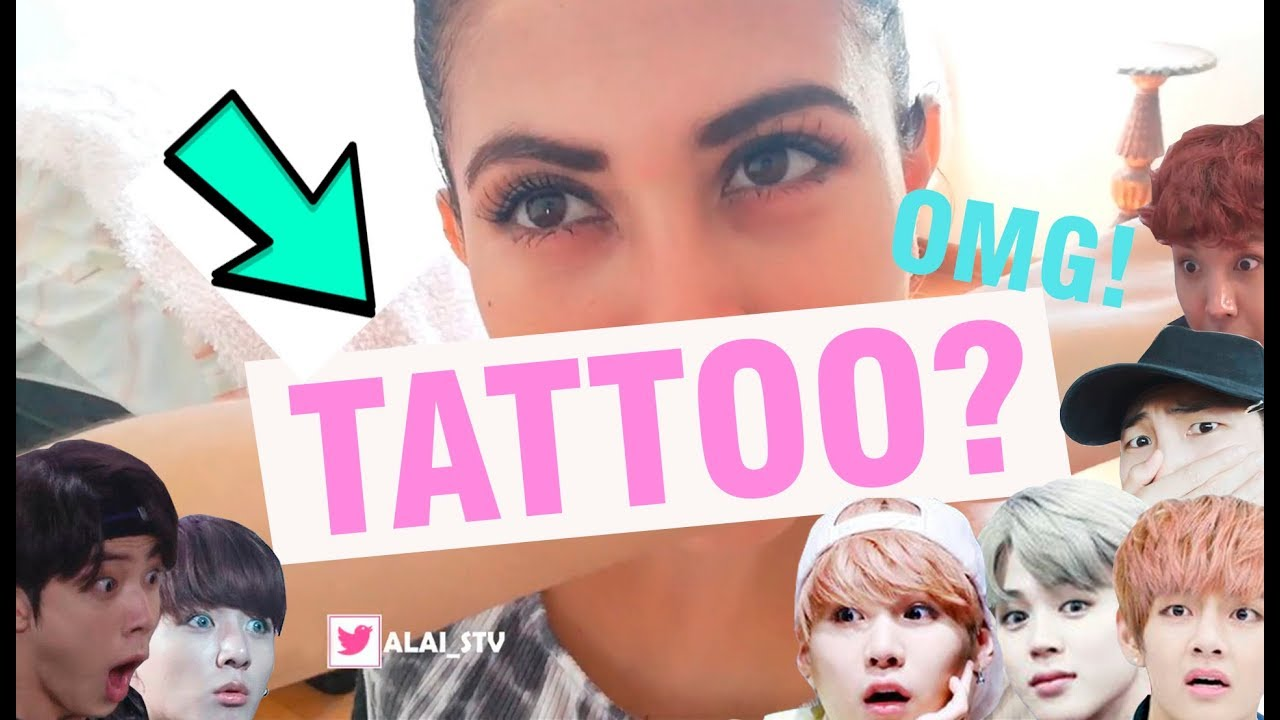 Me Hice Un Tatuaje Por Bts Vlog 2 Español Youtube