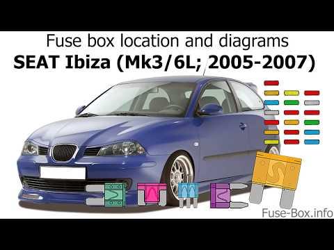 fuse box location and diagrams seat ibiza (mk3 6l; 2005 seat leon mk2 fuse box diagram vw jetta fuse diagram wiring diagram