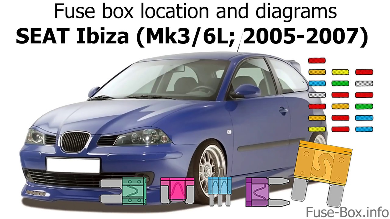 Fuse Box Location And Diagrams  Seat Ibiza  Mk3  6l  2005-2007