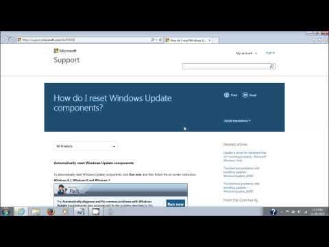 Microsoft Windows Update Fix It Tool Repair Windows Update Components