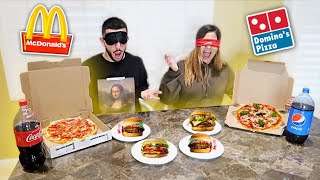 Download BLIND FAST FOOD CHALLENGE! Loser has to... Mp3 and Videos