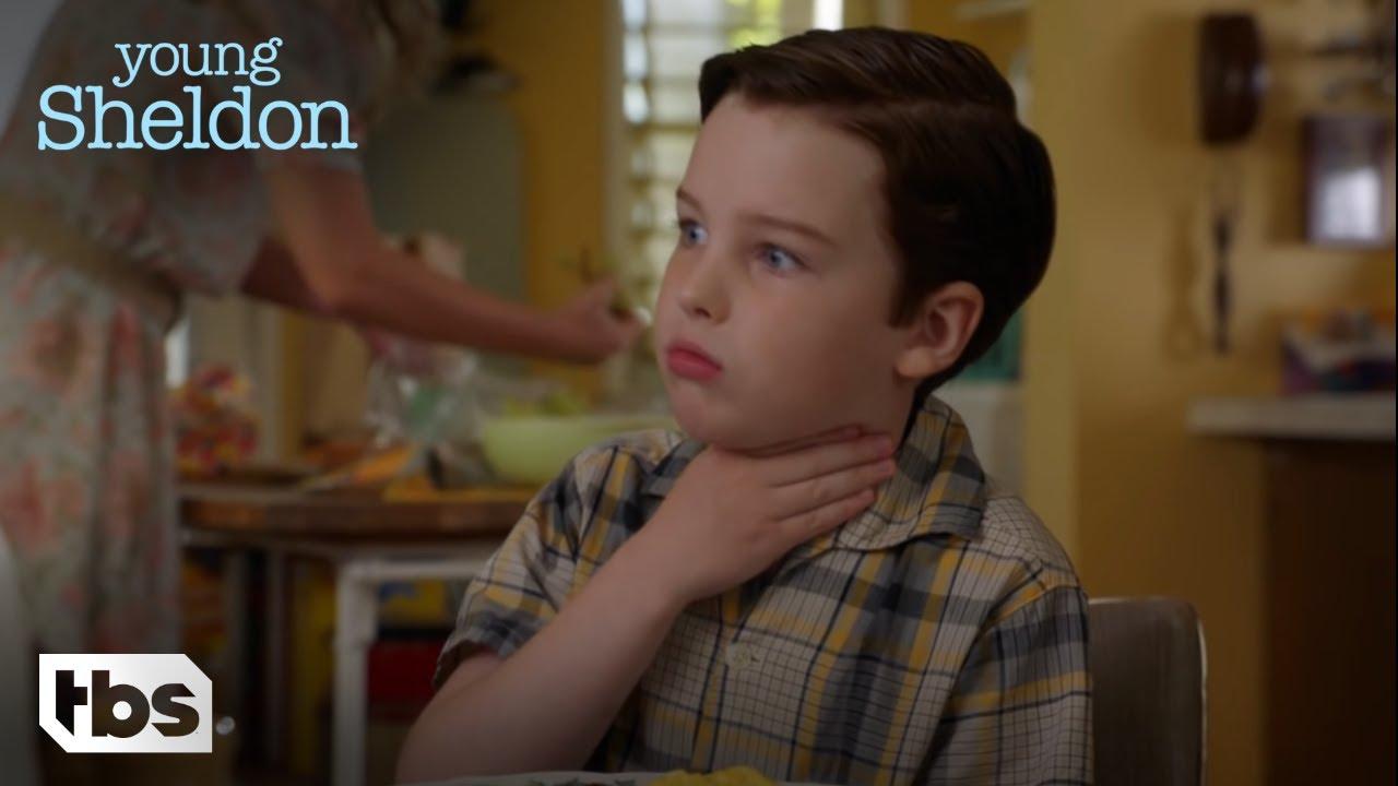 Download Young Sheldon: Sheldon Chokes on a Sausage (Season 1 Episode 4 Clip) | TBS