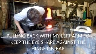 Forging strap hinges