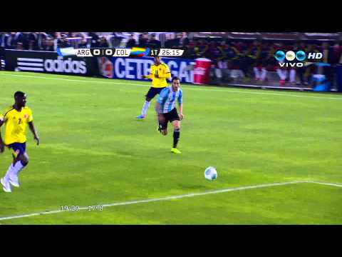 Expulsion Higuain - Argentina vs Colombia - Telefe Full HD