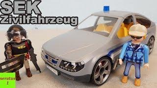 Playmobil SEK Zivilfahrzeug 9361 auspacken seratus1 Spezialeinsatzkommando