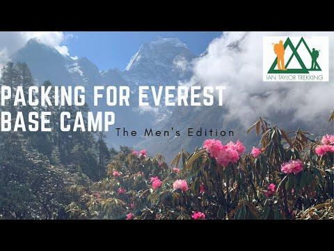 Everest base camp packing video   Ian Taylor Trekking