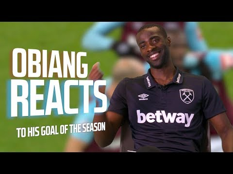 PEDRO OBIANG REACTS TO HIS GOAL OF THE SEASON