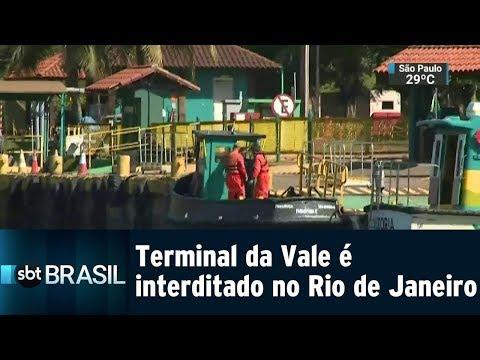 Terminal da Vale é interditado no Rio de Janeiro | SBT Brasil (31/01/19)