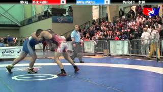 Nick Heflin vs. Willie Miklus at 2013 ASICS University Nationals - FS