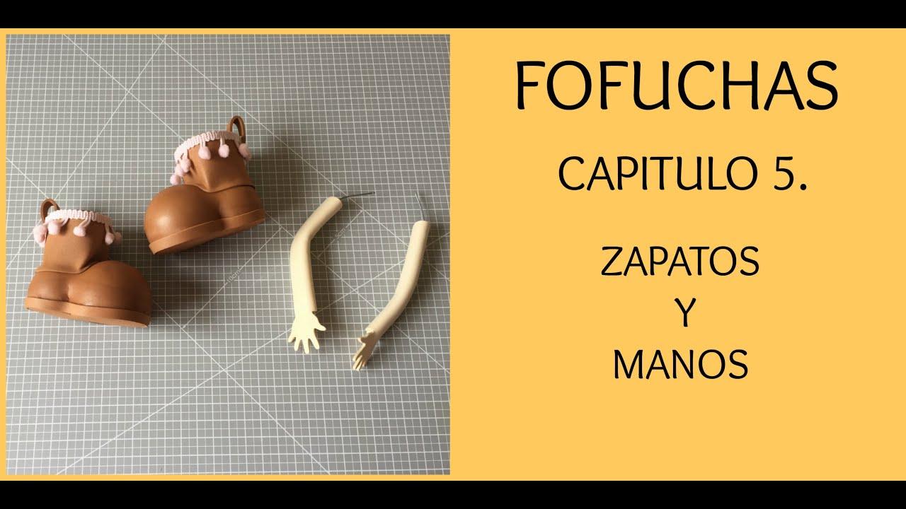 729d6cac4b7 Curso fofuchas 5. Zapatos y manos de muñeca fofucha. - YouTube