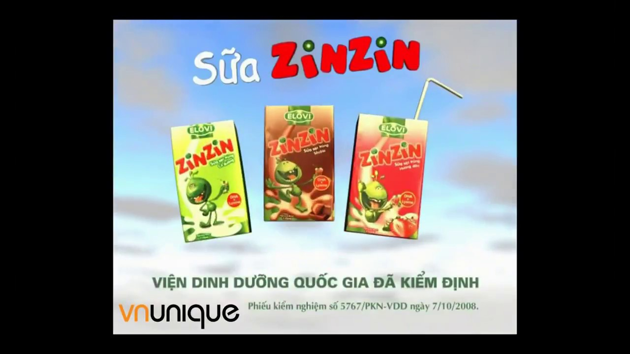 Quảng Cáo Huyền Thoại|Sữa Zin Zin cho 8x,9x