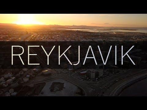24HRS IN REYKJAVIK // Iceland 4k // Drone