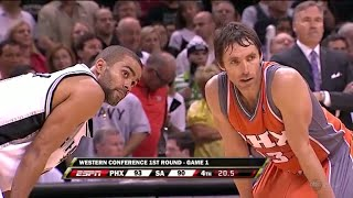 Steve Nash vs Tony Parker LEGENDARY PG Duel 2008 Playoffs R1G1 - 51 Pts, 18 Assists Combined!