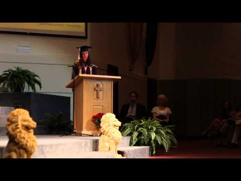 Valedictorian speech Intermountain Christian School 2014 Katherine Brown