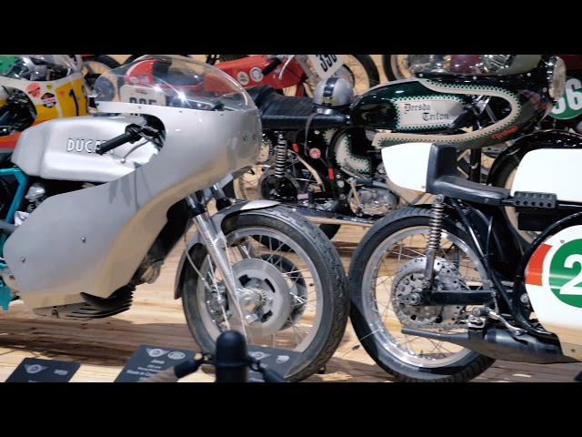 Vintage racer section in the TOP Mountain Motorcycle Museum