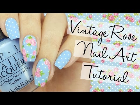 Vintage Rose Nail Art Tutorial thumbnail