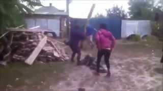 Пьяная сельская драка {видео из 100500 - Сельская Драка}