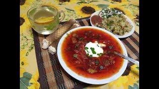 Меню на день: Борщ Жареная картошка с салатом Вафельные трубочки с соком