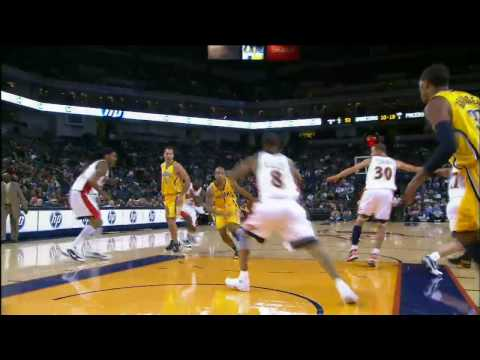 Dahntay Jones Drives and Floats to the Rim