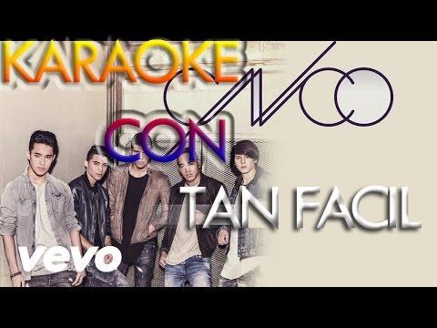 KARAOKE -Tan Fácil — CANTA Con CNCO