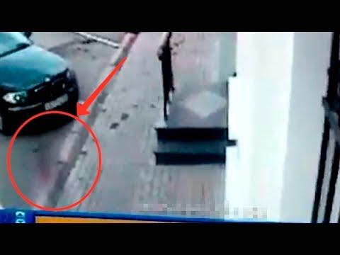 Мистика! Призрак у дома А.С. Грибоедова, в городе Москва. Видеокамера сняла это!..