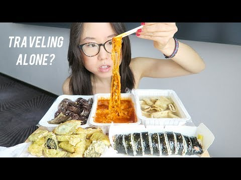 Korean Street Food MUKBANG ft Cheesy Tteokbokki