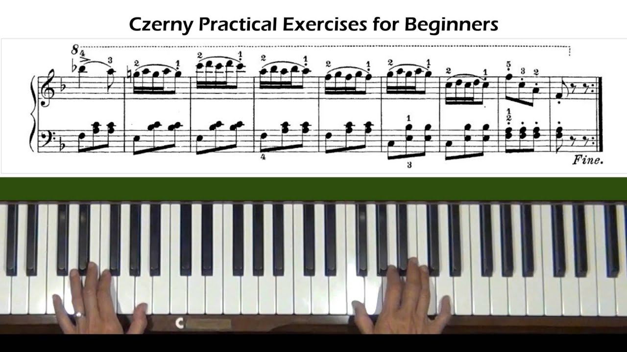 czerny exercises for beginners pdf