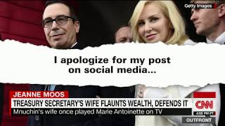 Treasury secretary's wife apologizes for rant