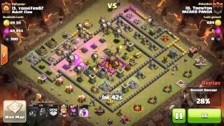 Clash of Clans Wizard Panda 129 Base13 Trenton Rushed Th10 Smackdown