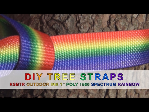 "DIY Tree Straps with RSBTR Outdoor Ink 1"" Poly 1500 in Spectrum Rainbow"