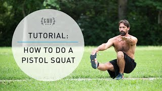 How to do a Pistol Squat - One Legged Squat (Bodyweight Leg Exercise)