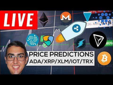 Price Predictions: Cardano ($ADA), Ripple ($XRP), Stellar ($XLM), IOTA ($IOT), Tron ($TRX), and More