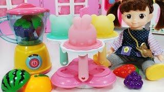 콩순이 과일 아이스크림 만들기 아기인형 냉장고 장난감놀이 - 토이몽 Fruit Ice Cream Making and Baby Doll Refrigerator Toys Play