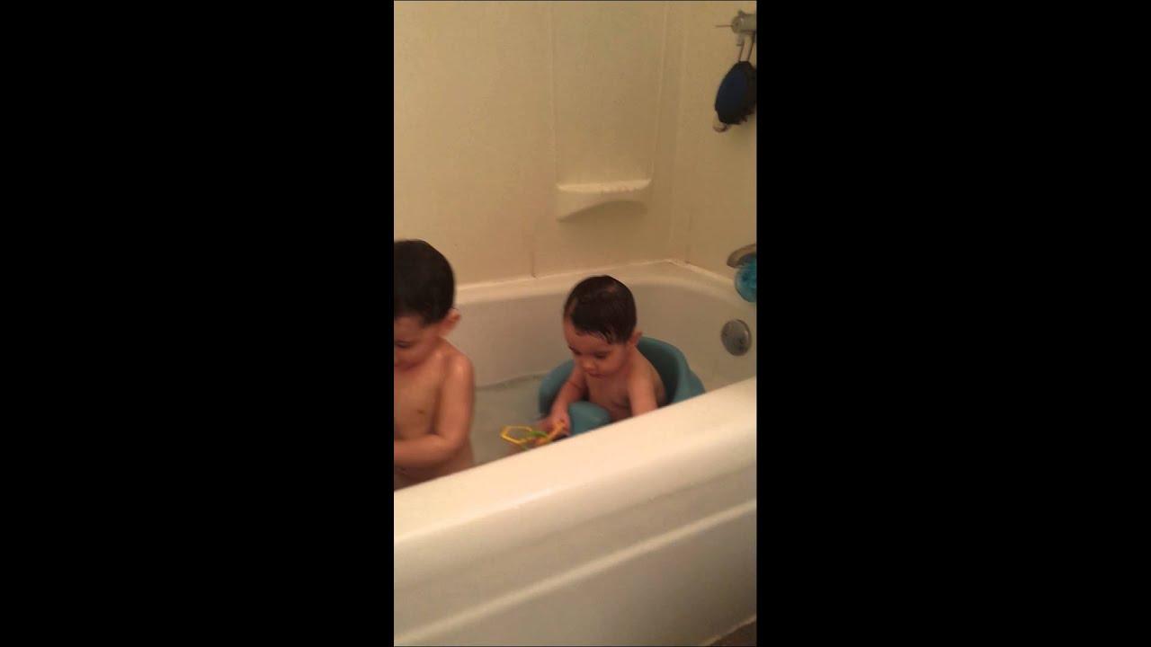 Bath time with sick boys - YouTube