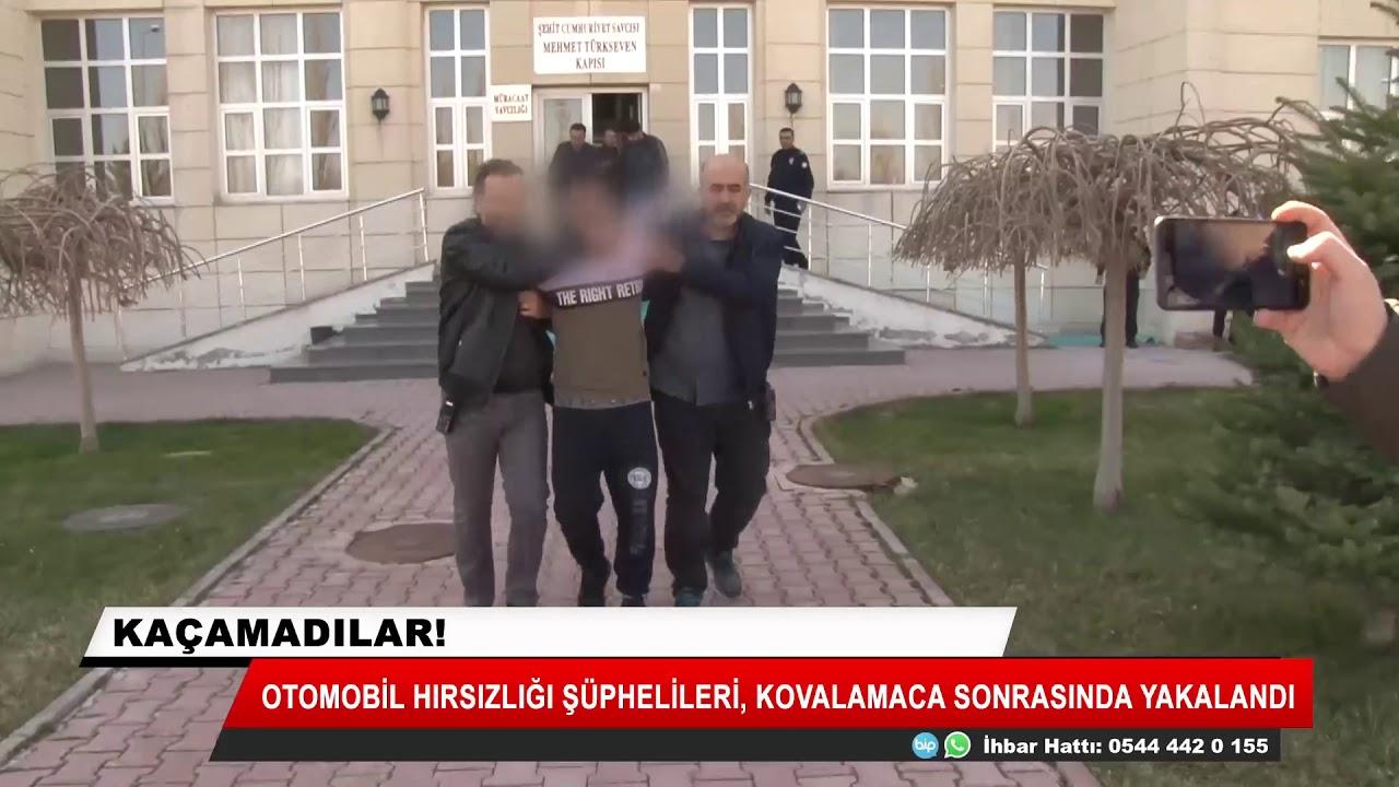 Konya'da otomobil hırsızları kovalamaca sonrası yakalandı!