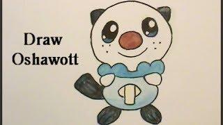 Draw OSHAWOTT Pokemon No. 501 Tutorial メロエッタ