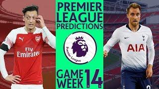 EPL Premier League Score Predictions Week 14 Season 2018/19