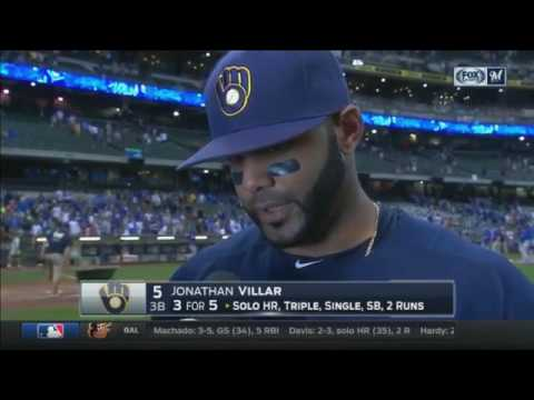 Jonathan Villar reflects on the Brewers big offensive night