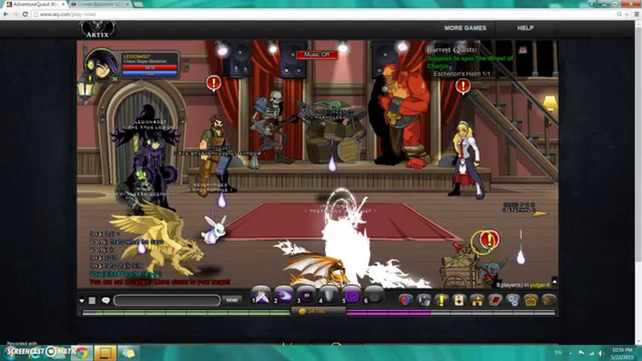 Aqw Supplies To Spin The Wheel Of Chance Nulgath Larvae Youtube
