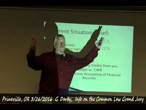 Common Law Grand Jury, Judge Darby Prineville evening session